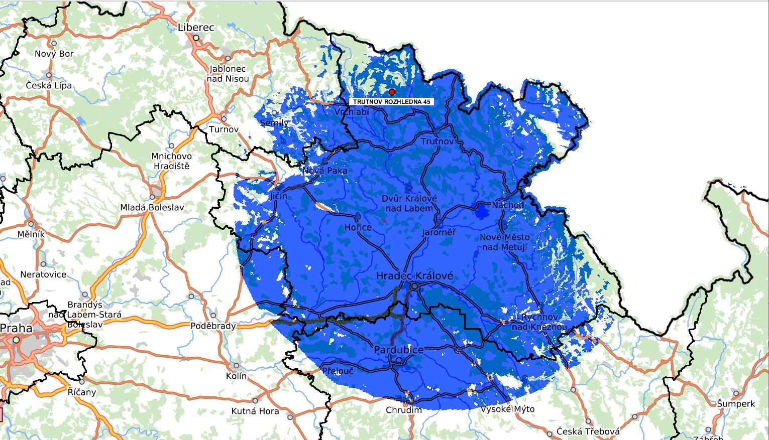 Multiplex 24 zlepšil pokrytí východních Čech vysílačem Trutnov - Rozhledna.